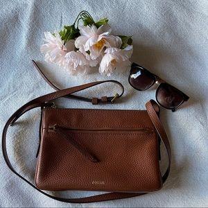 "Fossil Small  ""Gemma"" Brown Crossbody  purse 👜"